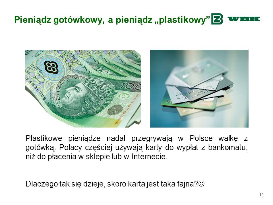 """Pieniądz gotówkowy, a pieniądz """"plastikowy"""