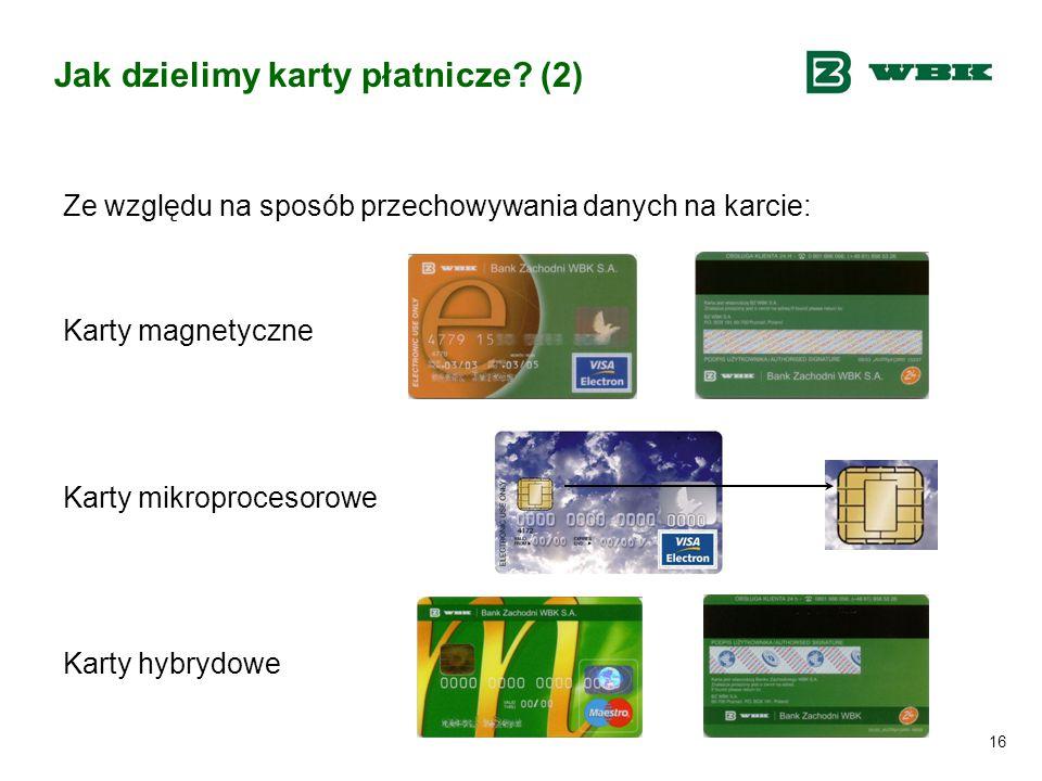 Jak dzielimy karty płatnicze (2)