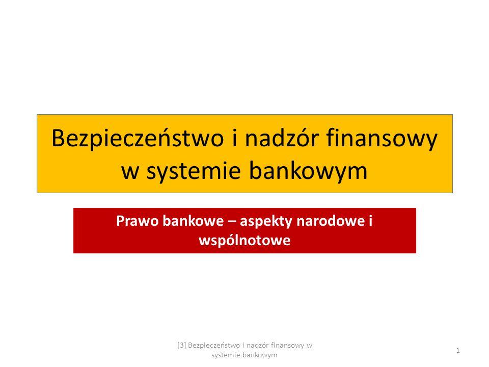Bezpieczeństwo i nadzór finansowy w systemie bankowym