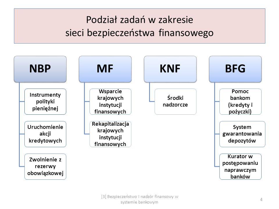 Podział zadań w zakresie sieci bezpieczeństwa finansowego