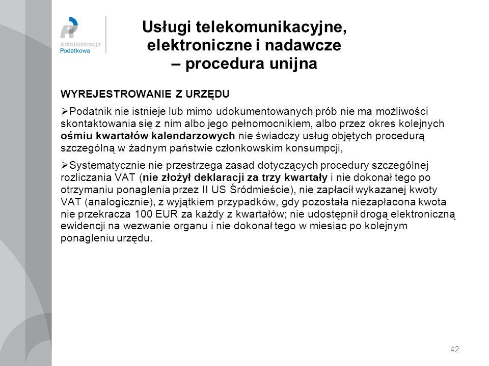 Usługi telekomunikacyjne, elektroniczne i nadawcze – procedura unijna