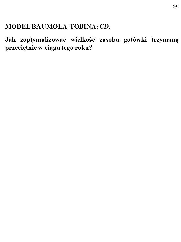 MODEL BAUMOLA-TOBINA; CD.