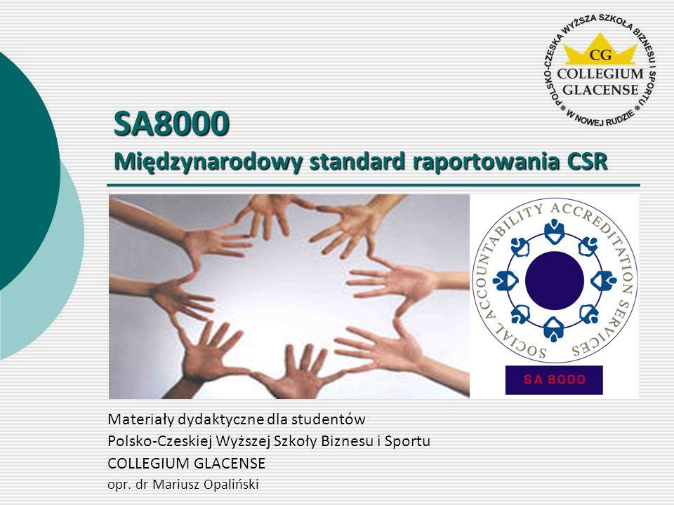 SA8000 Międzynarodowy standard raportowania CSR