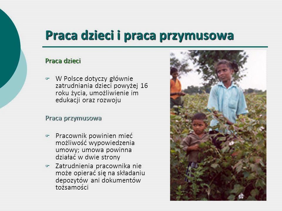 Praca dzieci i praca przymusowa