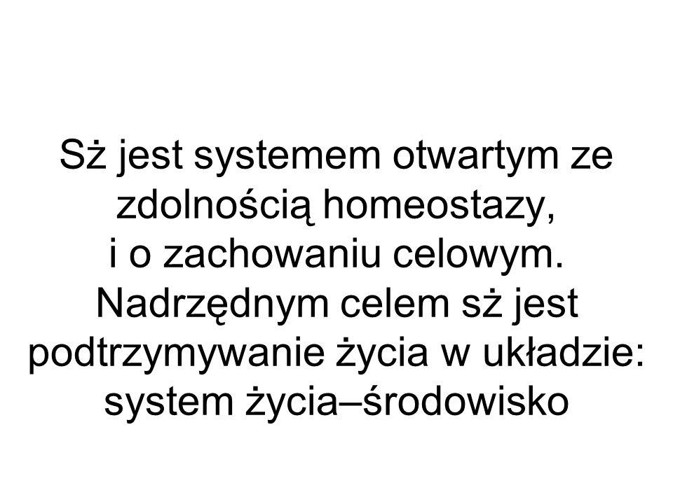 Sż jest systemem otwartym ze zdolnością homeostazy, i o zachowaniu celowym.