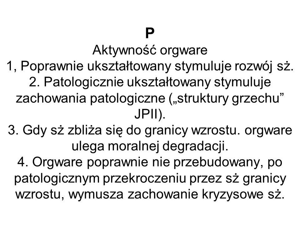 P Aktywność orgware 1, Poprawnie ukształtowany stymuluje rozwój sż. 2