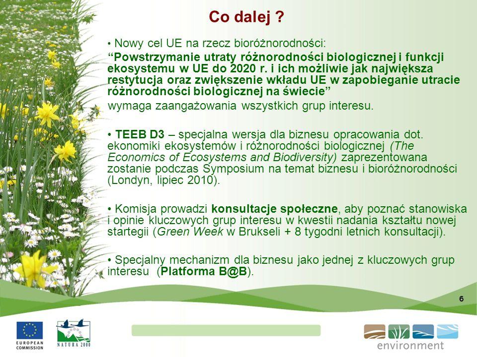 Co dalej Nowy cel UE na rzecz bioróżnorodności: