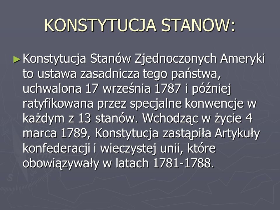 KONSTYTUCJA STANOW: