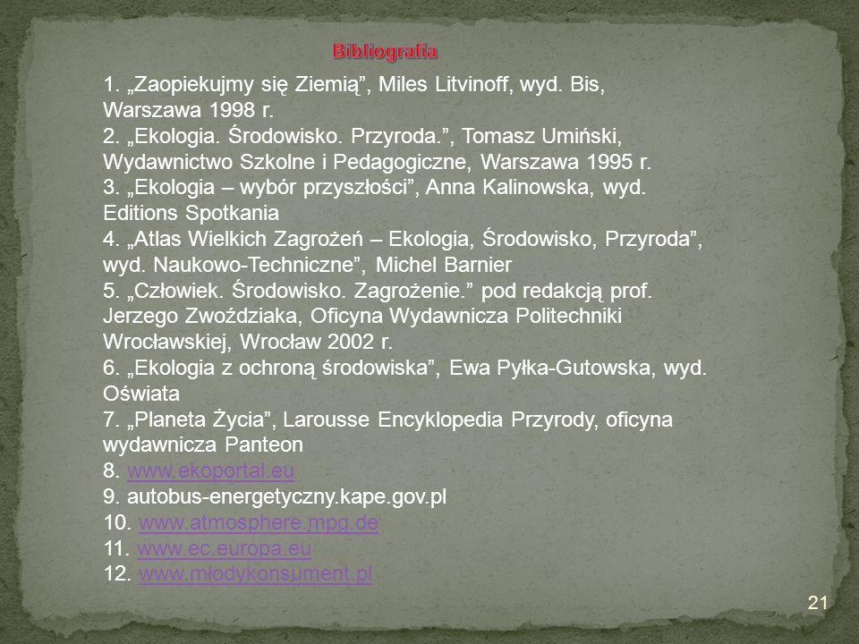 """6. """"Ekologia z ochroną środowiska , Ewa Pyłka-Gutowska, wyd. Oświata"""