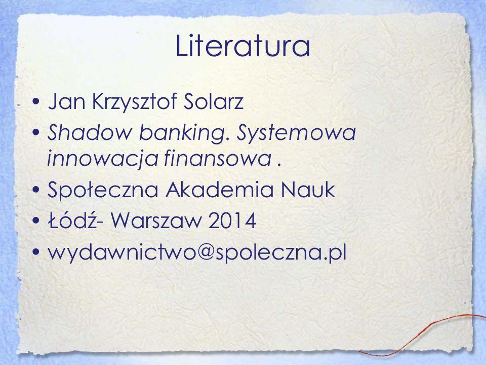 Literatura Jan Krzysztof Solarz