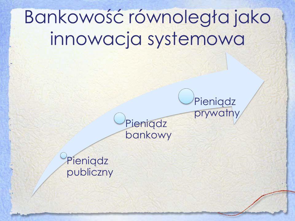 Bankowość równoległa jako innowacja systemowa