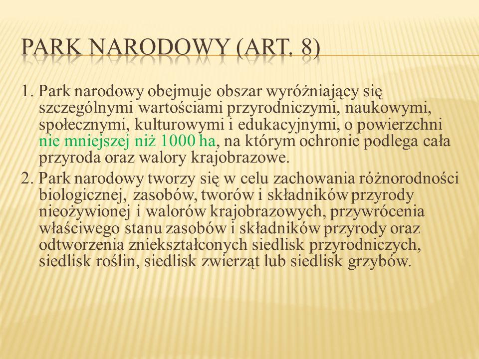 Park narodowy (art. 8)