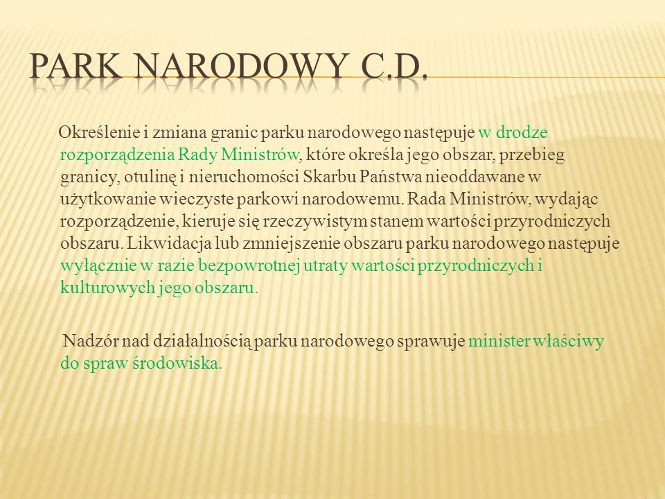 Park narodowy c.d.