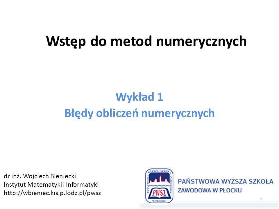 Wstęp do metod numerycznych
