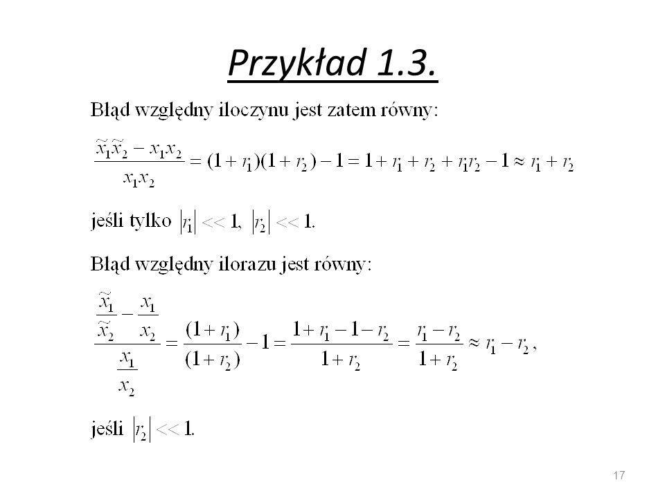 Przykład 1.3.