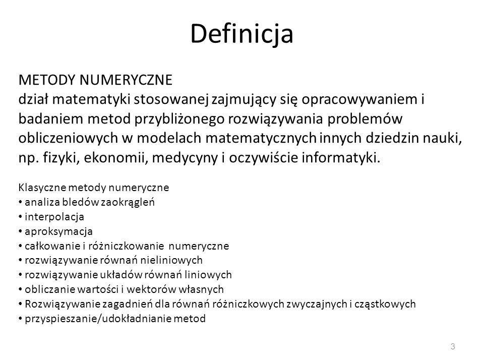 Definicja METODY NUMERYCZNE