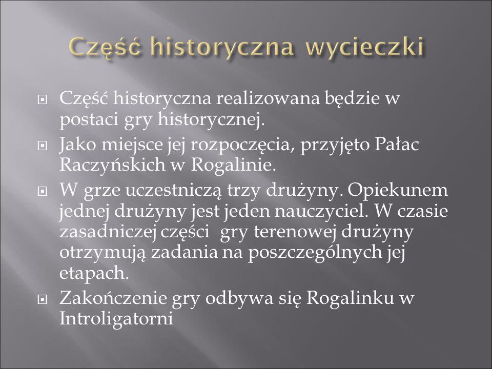 Część historyczna wycieczki