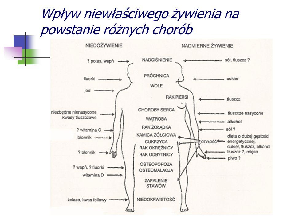 Wpływ niewłaściwego żywienia na powstanie różnych chorób