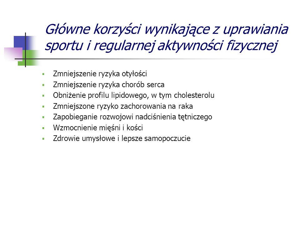 Główne korzyści wynikające z uprawiania sportu i regularnej aktywności fizycznej