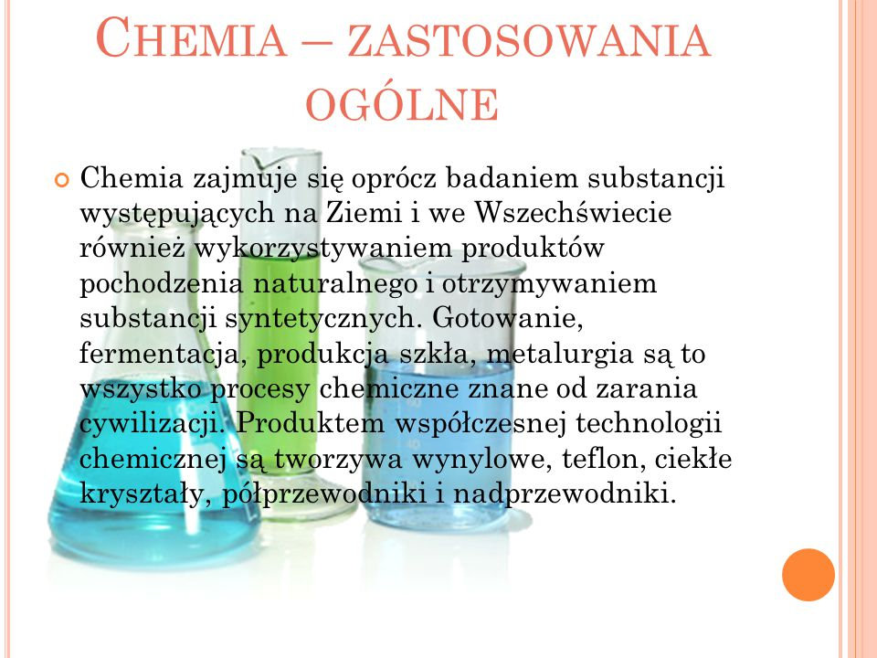 Chemia – zastosowania ogólne