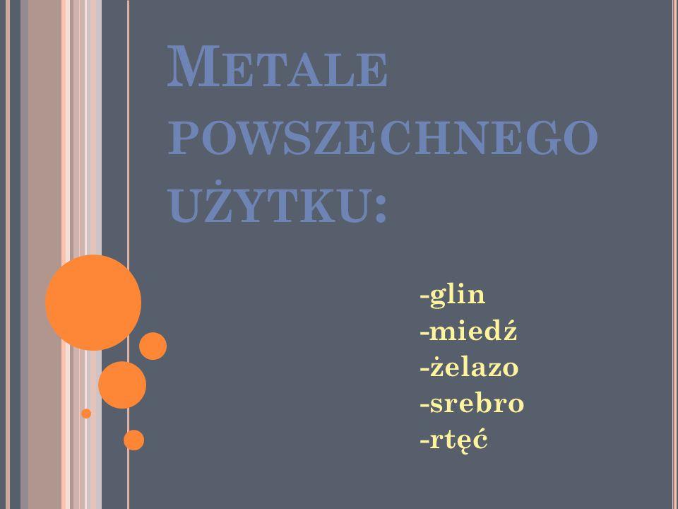 Metale powszechnego użytku: