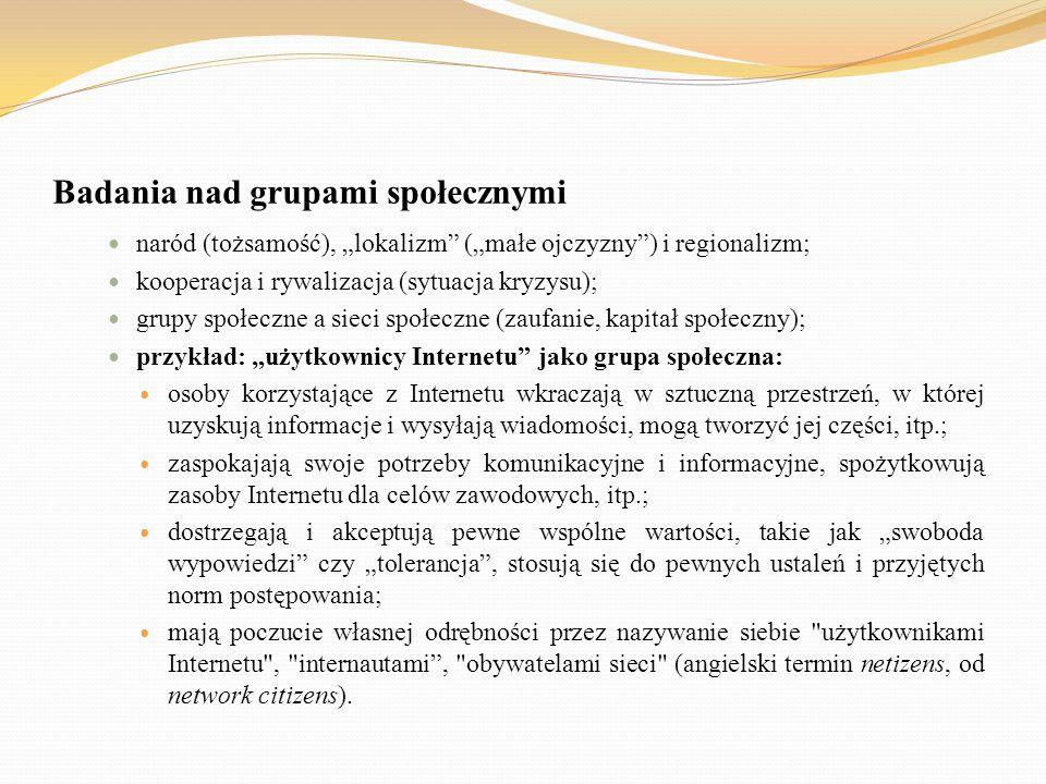 Badania nad grupami społecznymi
