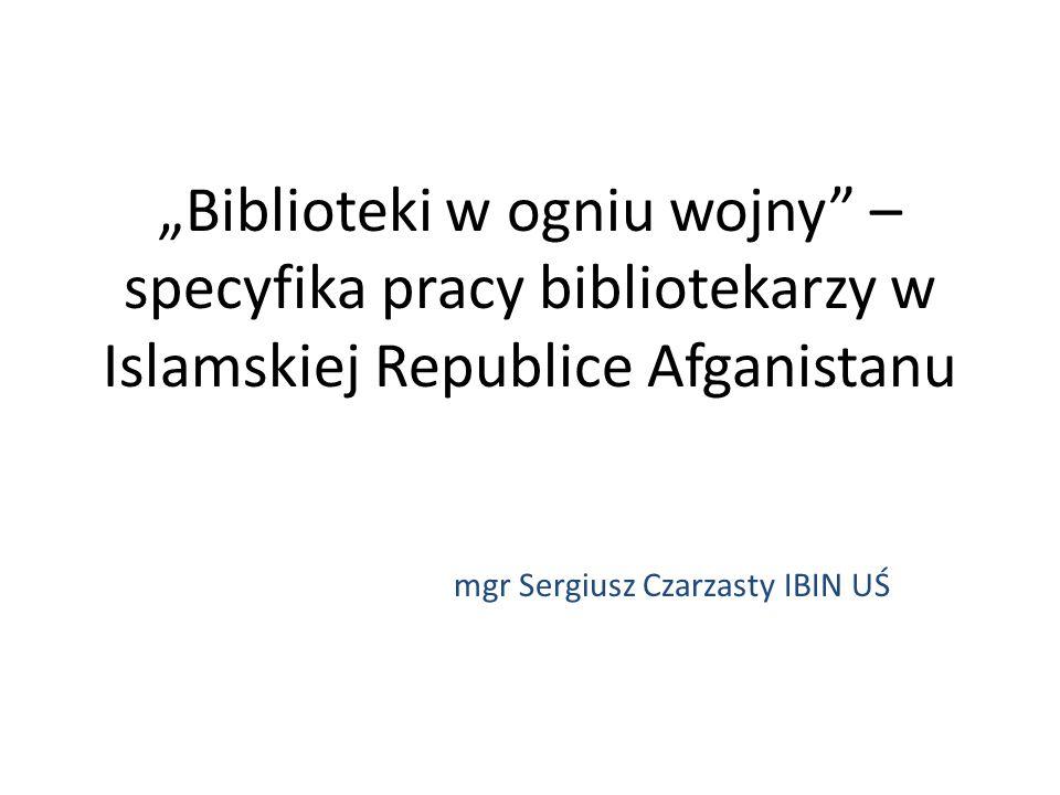 mgr Sergiusz Czarzasty IBIN UŚ