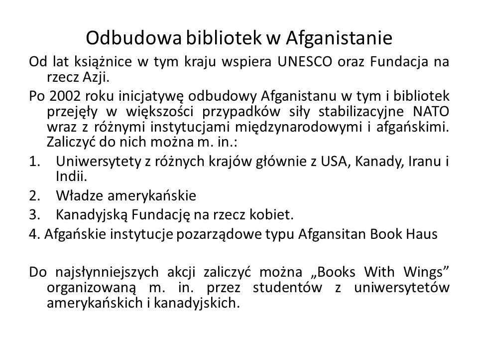 Odbudowa bibliotek w Afganistanie