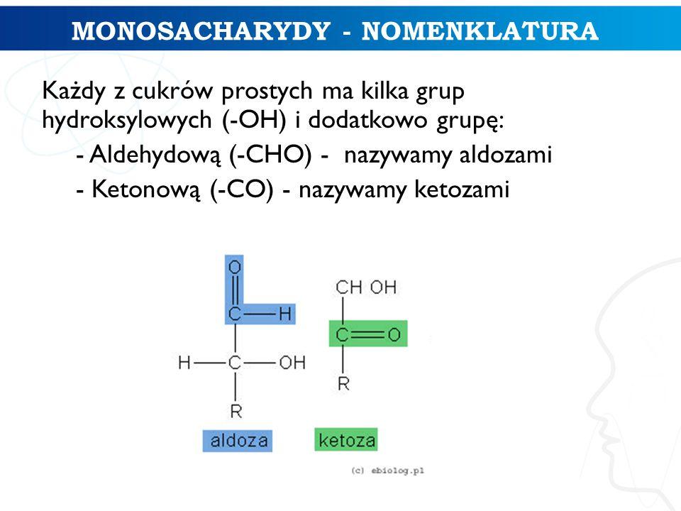 MONOSACHARYDY - NOMENKLATURA