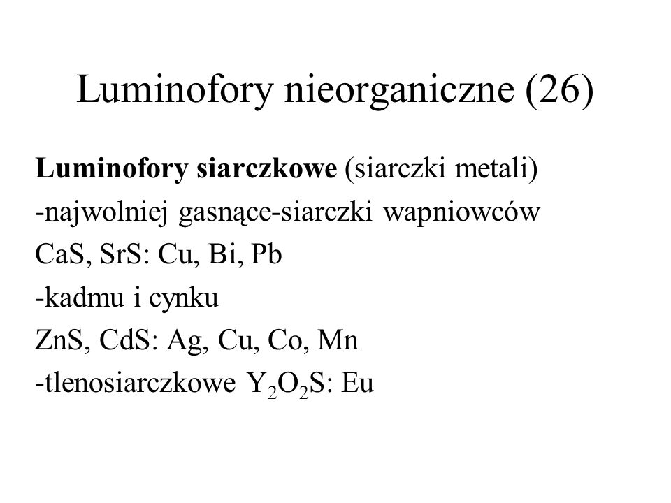 Luminofory nieorganiczne (26)