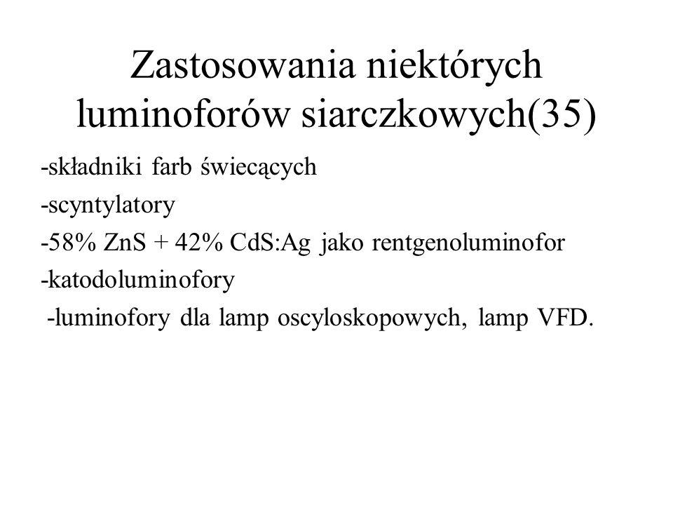 Zastosowania niektórych luminoforów siarczkowych(35)
