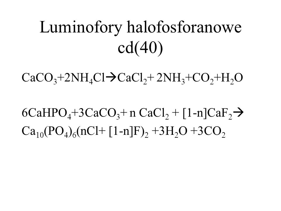 Luminofory halofosforanowe cd(40)