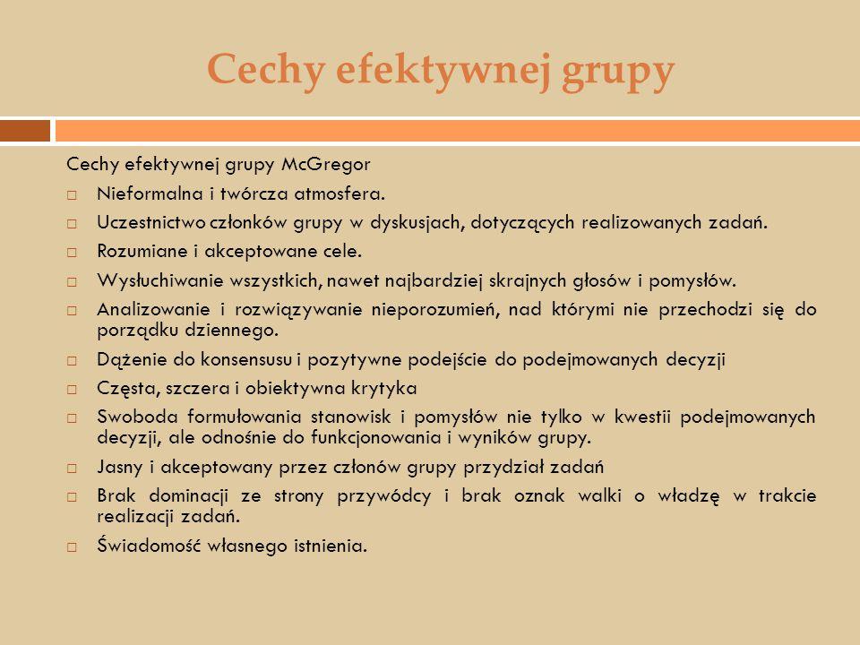 Cechy efektywnej grupy