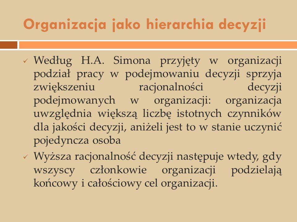 Organizacja jako hierarchia decyzji