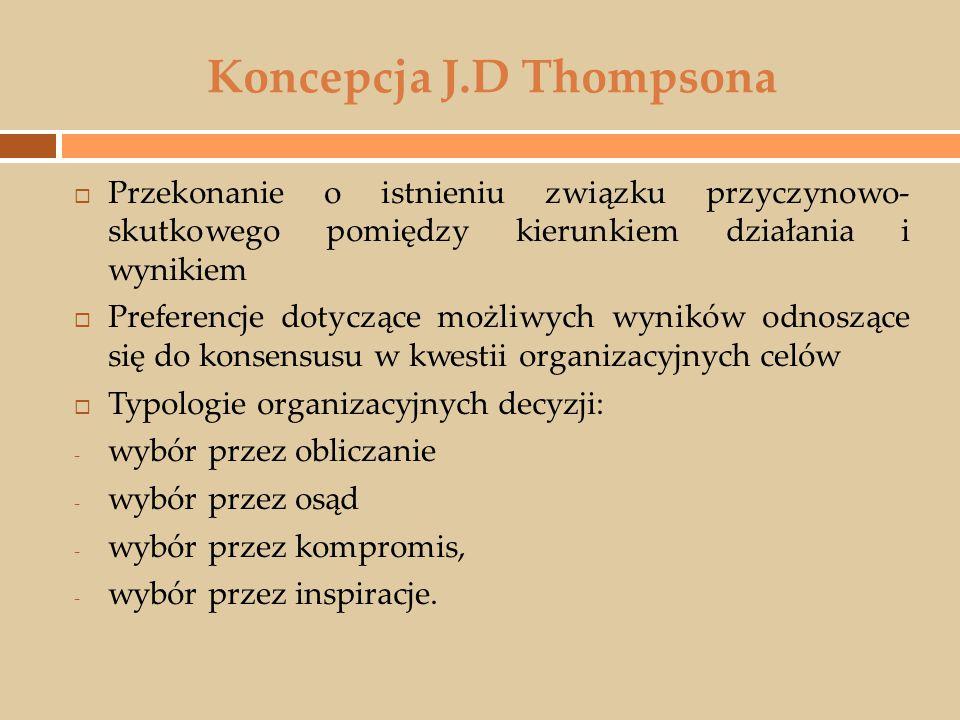 Koncepcja J.D Thompsona