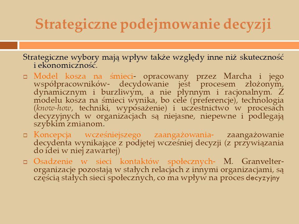 Strategiczne podejmowanie decyzji