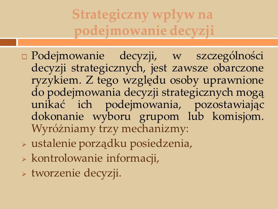 Strategiczny wpływ na podejmowanie decyzji