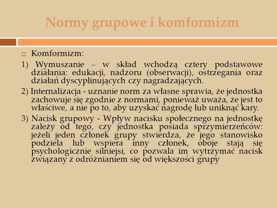 Normy grupowe i komformizm