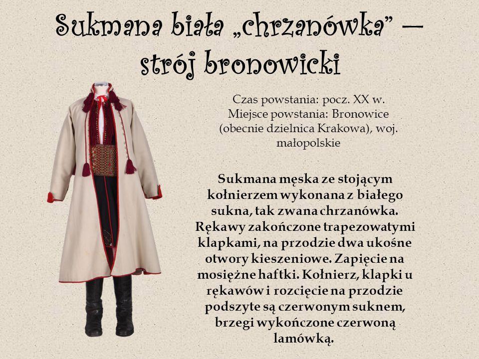 """Sukmana biała """"chrzanówka — strój bronowicki"""