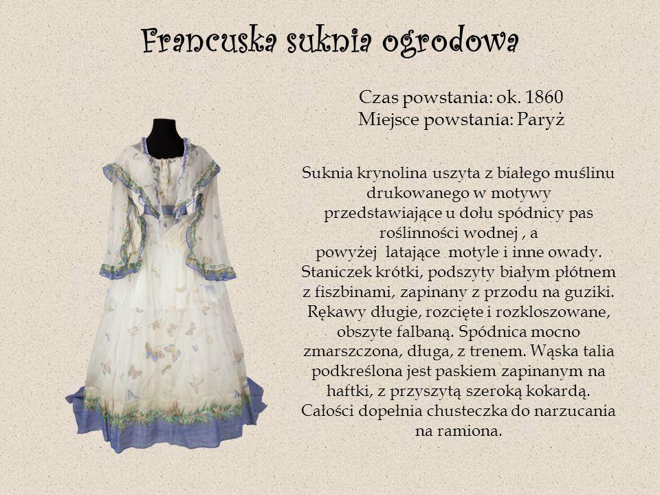 Francuska suknia ogrodowa