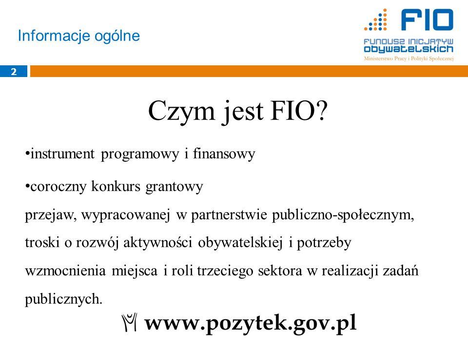 Czym jest FIO Informacje ogólne instrument programowy i finansowy