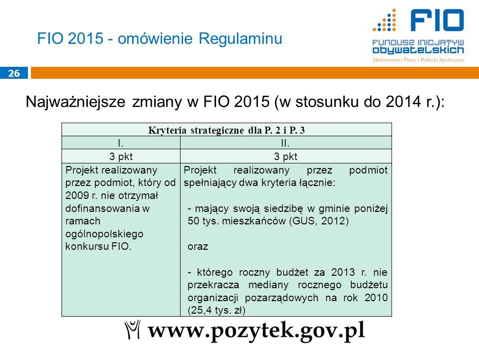 Kryteria strategiczne dla P. 2 i P. 3