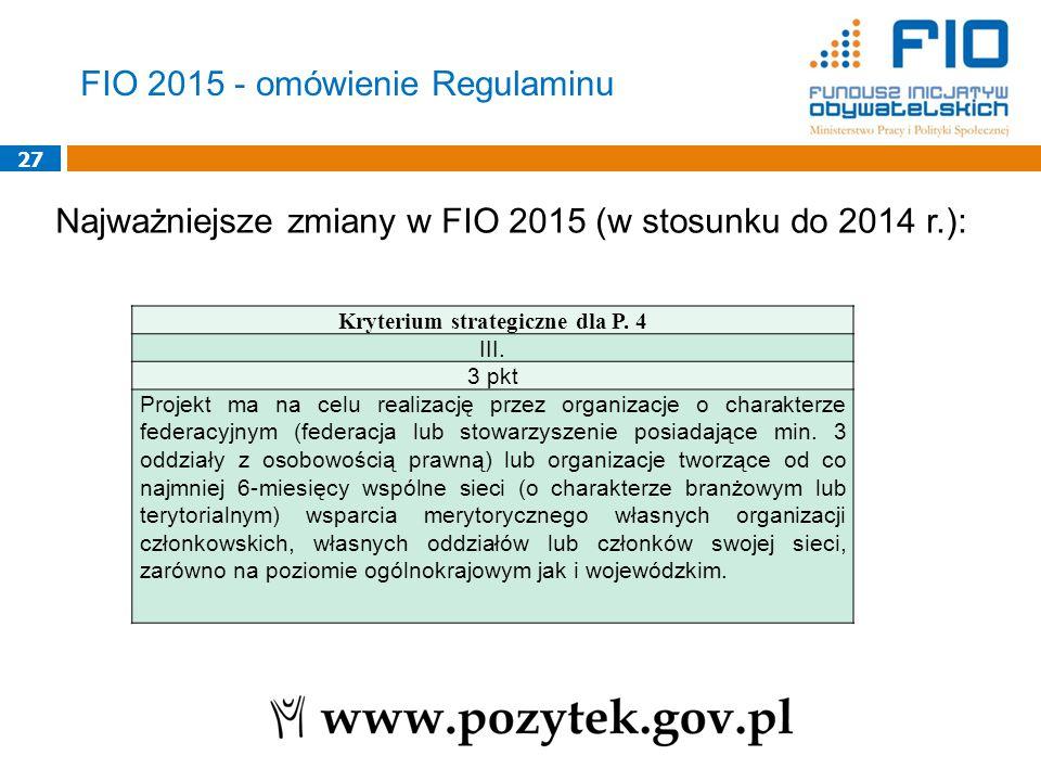 Kryterium strategiczne dla P. 4