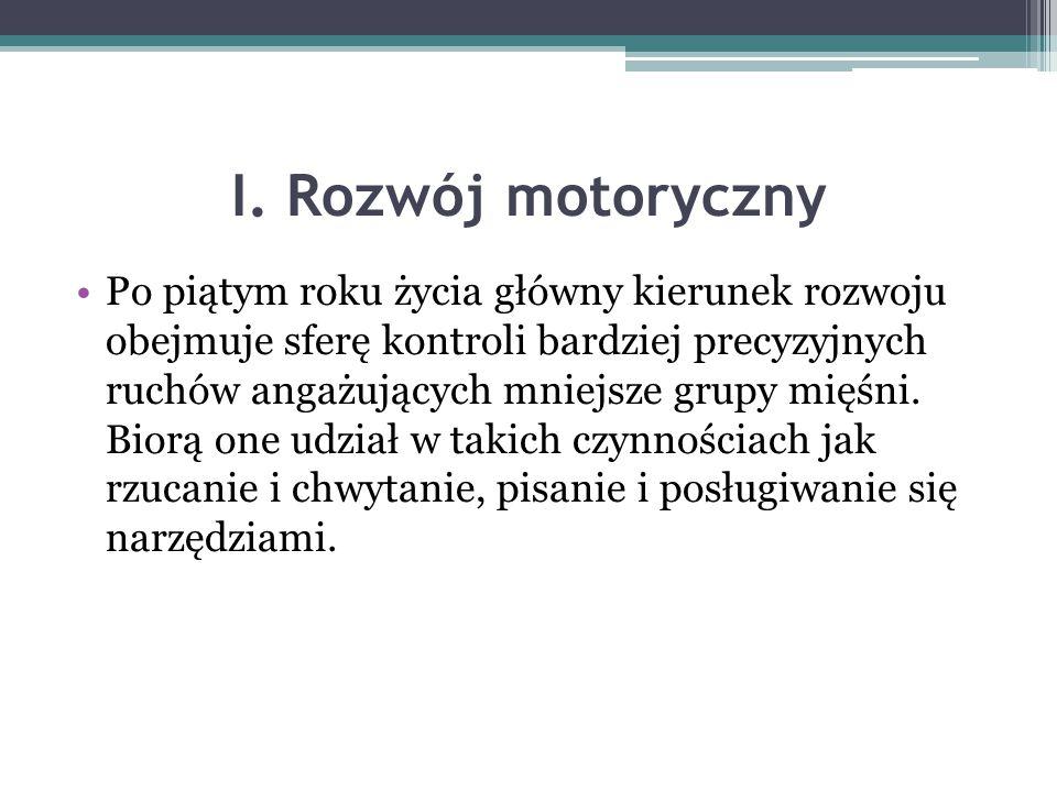 I. Rozwój motoryczny