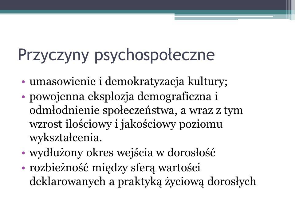 Przyczyny psychospołeczne