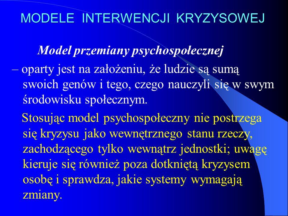 MODELE INTERWENCJI KRYZYSOWEJ