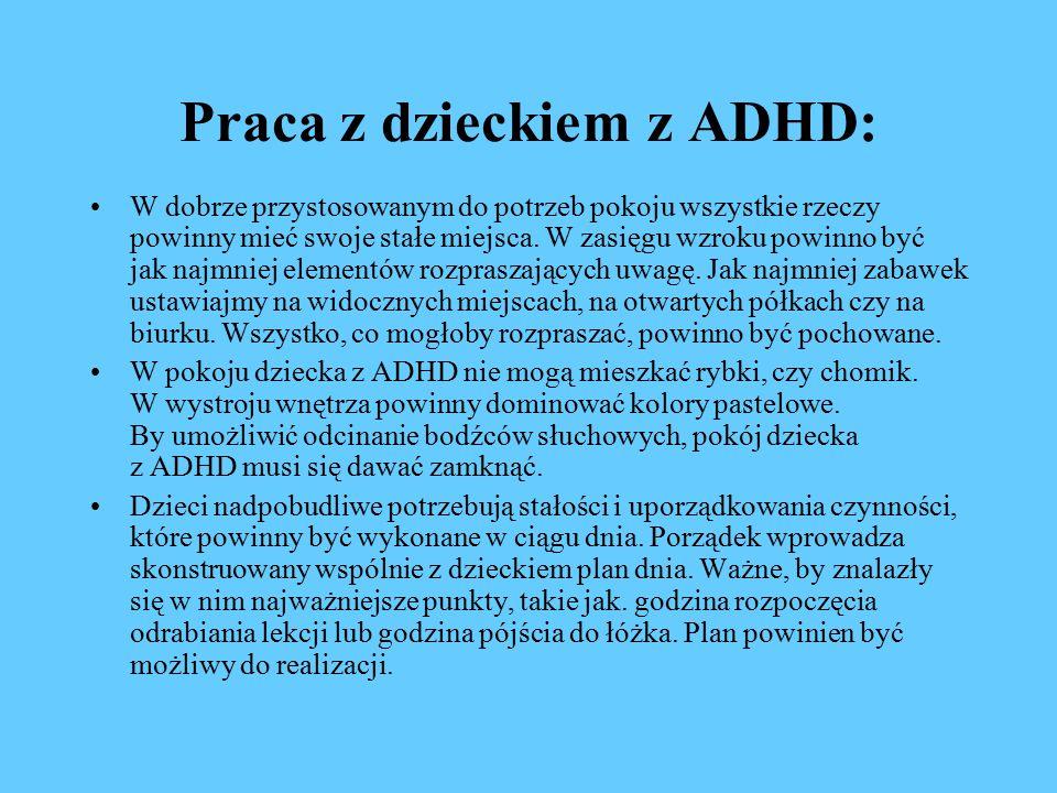 Praca z dzieckiem z ADHD: