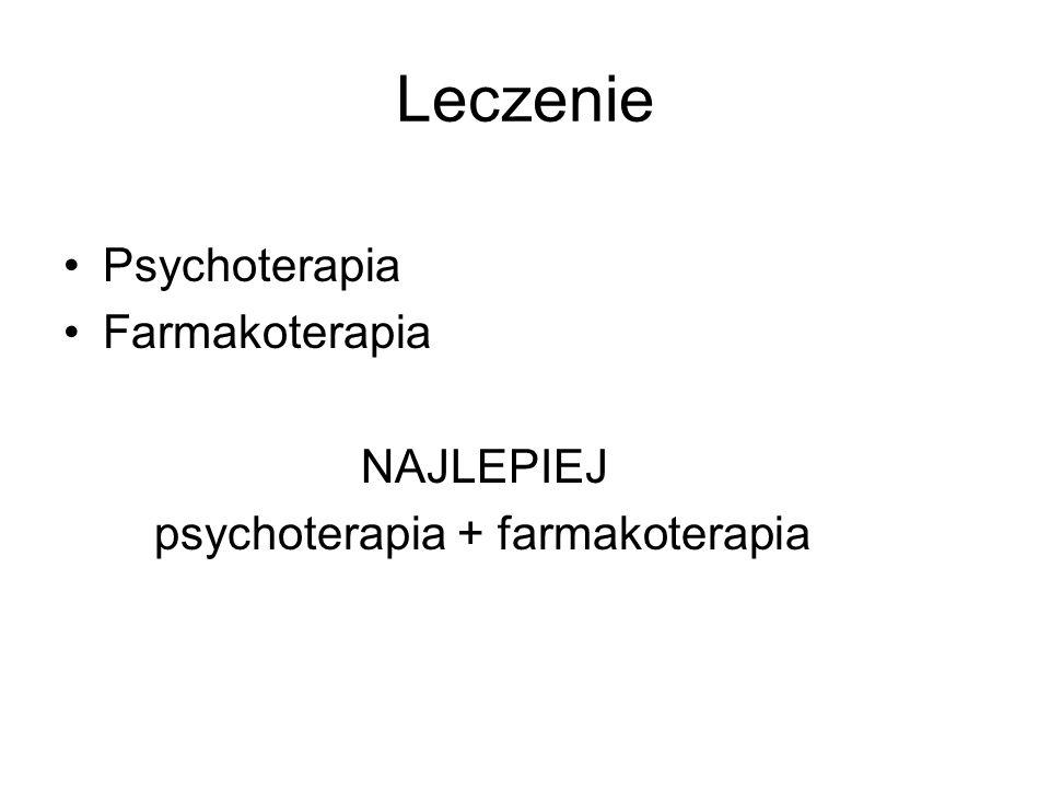 Leczenie Psychoterapia Farmakoterapia NAJLEPIEJ