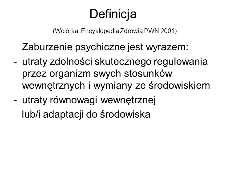 Definicja (Wciórka, Encyklopedia Zdrowia PWN 2001)