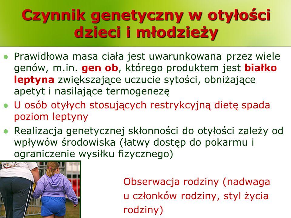 Czynnik genetyczny w otyłości dzieci i młodzieży